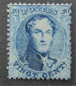nystamps Belgium Stamp # 15 Mint OG H $95   L30y124