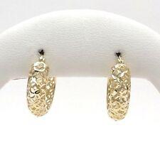 7f56bc77faf2 Nuevo 10K Oro Diamante Corte Brillante Pendientes De Aro Redondo 6mm 3 4