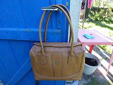 sac à main Heyraud vintage cuir marron foulonné