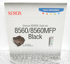 Original XEROX Solid Ink Phaser 8560 8560mfp Black 6 sticks 4 Genuine 108R00727