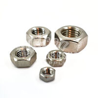 PACK OF 10, M8 (8mm) A2 STAINLESS STEEL HEX FULL NUTS METRIC THREAD PITCH 1.25 *