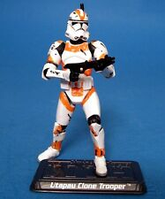 Star wars loose ROTS SAGA très rare orange UTAPAU CLONE TROOPER Comme neuf. C-10+