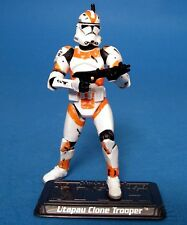 STAR WARS LOOSE ROTS SAGA VERY RARE ORANGE UTAPAU CLONE TROOPER MINT. C-10+
