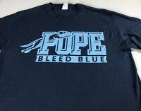 Pope T-Shirt Adult SZ M/L Bleed Blue Greyhounds Georgia High School Alumni Grad