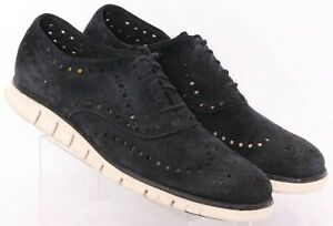 Cole Haan ZeroGrand C12981 Perforated Suede Sneaker Oxford Shoes Men's US 13M