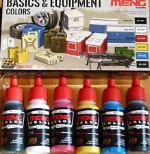 AK Interactive Meng Basics & Equipment Colours Acrylic Set For Brush/Airbrush