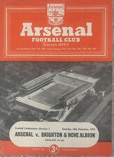 More details for arsenal reserves v brighton & hove albion reserves 1954/55