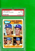 1965 Topps Baseball CARD #561 DODGER ROOKIES  HIGH NUMBER SP PSA 8 NM-MT