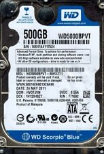 Western Digital WD5000BPVT-80HXZT1 500GB DCM: HV0TJVN