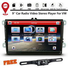9-inch Car Stereo Radio Player GPS Navigation for VW GOLF PASSAT POLO Jetta +Cam