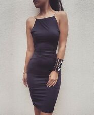Black Lycra Backless Dress With Crystals- Roya Collection