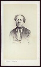 photo cdv Charles Jacobin . Personnalité  . Bourgeoisie . Noblesse