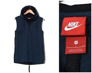 Mens NIKE Running Vest Gilet Waistcoat Sleeveless Jacket Blue Size S