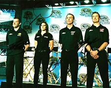 Danica Patrick Tony Stewart Kevin Harvick Kurt Busch Quad Signed 8x10 Photo COA
