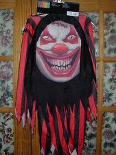 HALLOWEEN COSTUME:Mad Creeper Crazy Clown Creepy Boy M Robe Hooded Mask Huge NEW