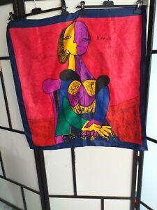 "Magnifique Foulard "" Picasso "" / Authentic "" Picasso "" Scarf"