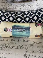 "Cynthia Rowley Dachshund Indoor/Outdoor Reversible Blanket  Throw 50""x 60"" NEW"