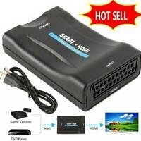Scart auf HDMI Konverter Wandler AV Scaler Converter HD Adapter 1080P 2020 Q0X9