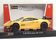 Bburago 38010 RACING McLaren 12C GT3 - METAL Scala 1:43
