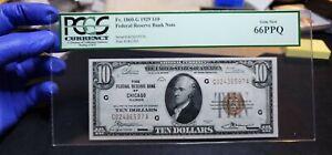 Fr.1860-G $10 1929 Chicago Federal Reserve Bank Note PCGS GEM 66 PPQ