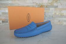 Tods Tod´s Gr 38 Slipper Mokassins Loafers Halbschuhe blau Schuhe neu UVP 320€