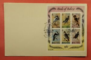 DR WHO 1980 BELIZE FDC BIRDS S/S C224915