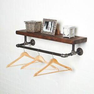 Urban Industrial Clothes Rail & Solid Shelf - Steampunk - Vintage - Elbow Style!