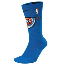 NIKE NBA Oklahoma City Thunder Elite Basketball Crew Socks sz Large (8-12) Blue