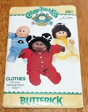 "Butterick Pattern - #6507 Cabbage Patch Kids Doll 16"" Clothes Vintage Pre-cut"