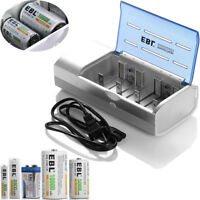 Universal For AA AAA C and D Size 9V Ni-CD Ni-MH Rechargeable Battery Charger
