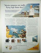 Vintage 1953 KODAK 8mm MOVIE CAMERA Lg Magazine Ad: HIGH FLYING MOVIE CAMERA