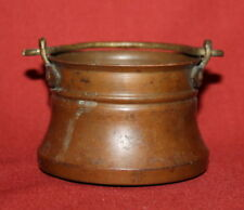 Antique Hand Made Copper Folk Art Small Pail Bucket