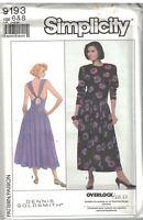 9193 Vintage Simplicity Sewing Pattern Misses Dress Stretch Knit Goldsmith Uncut