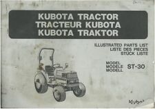 Kubota Tractor ST30 Parts Manual