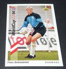 SCHMEICHEL MANCHESTER UNITED DANMARK FOOTBALL CARD UPPER DECK USA 94 PANINI 1994