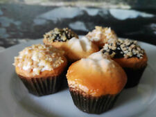 6 x Attrappe Muffins Cupcakes Törtchen Kuchenstück Lebensmittelattrappe Kuchen