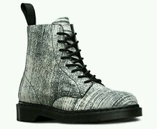 Dr Martens Pascal Painter 8 Eye Leather Boots Women's US 7 Men's US 6 White NEW
