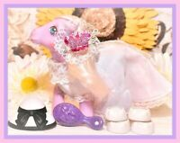 ❤️My Little Pony MLP G1 Vtg Satin 'n Lace Wedding Bride Dress Shoes Mail Order❤️