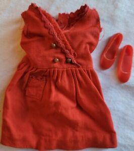 Vintage Mattel Barbie Skipper Clothing Red Sensation Dress 1963 With Red Shoes