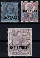 G139519/ BRITISH LEVANT – Y&T # 3 - 5 - 6 MINT MH
