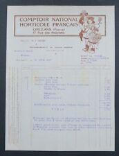 Facture 1917 ORLEANS COMPTOIR HORTICOLE illustrée par MICH LIEBEAUX 40