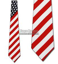 Flag Ties Patriotic Neckties Americana Mens Neck Tie Nwt