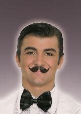 Winged Englishman Black Moustache Fake Handlebar Mustache 100 %  Human Hair