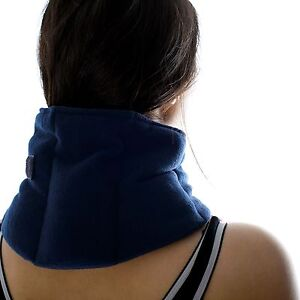 Soothing Neck & Joint Wrap - Microwave Unscented Wheat Bag Navy Fleece Heat Pack