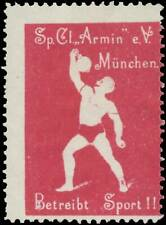 München: Reklamemarke Betreibt Sport! - 418973