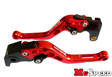 KAWASAKI W800/SE 2012-2016 Short Adjustable Brake & Clutch CNC Levers Red