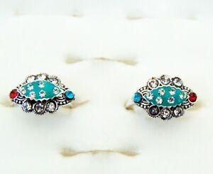 2Pcs Toe Ring Silver Adjustable Ring Indian Ethnic Bichiya Foot Ring Women Gift