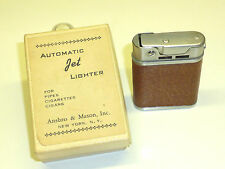 ANSBRO & MASON VINTAGE AUTOMATIC BEATTIE TYPE JET PIPE LIGHTER - OVP - U.S.A.