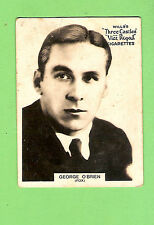 #D303. 1925-1930  FAMOUS FILM  STAR  WILLS CIGARETTE CARD #53  GEORGE O'BRIEN
