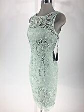 Adrianna Papell Women's Lace Sheath Dress 04186300 MINT 14